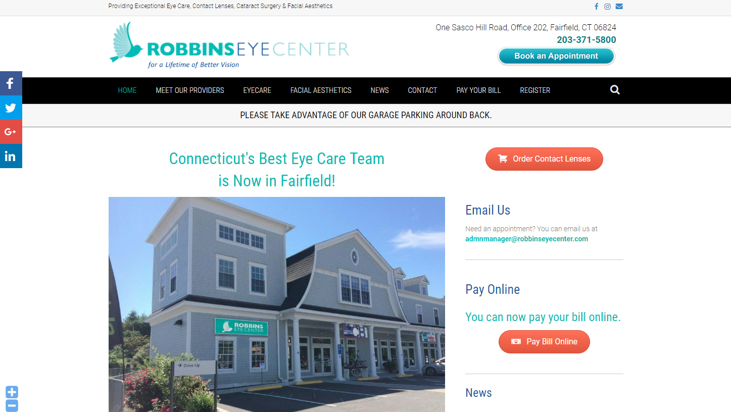 Robbins Eye Center<br />Ophthalmologist
